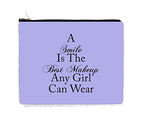 Smile Is The Best Makeup Quote In Purple