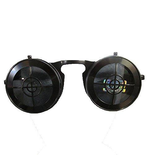 [SPEXX Full Metal Bullseye Crosshair Flip-up Steampunk Style Sunglasses (Metal Slate)] (Victorian Era Womens Costumes)