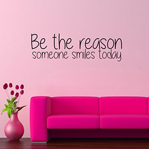 Be The Reason Someone Smiles Today - Inspirational Quote - Vinyl Wall Art Decal - 10