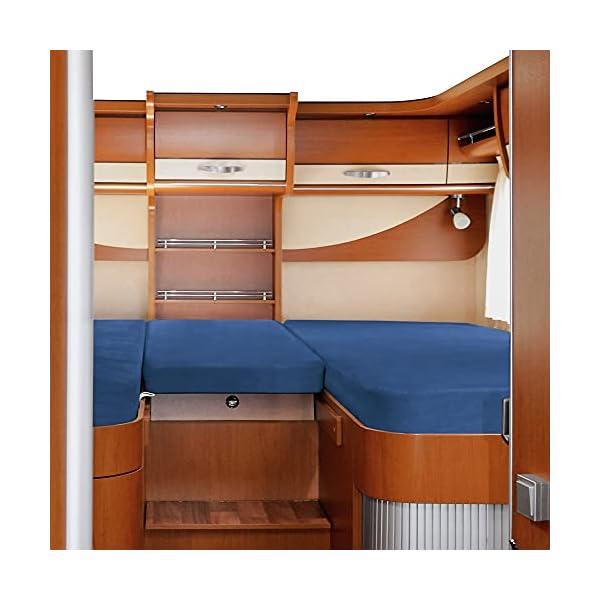 41ct8LCmwvS Erwin Müller Spannbettlaken 3er-Set für Wohnmobil oder Wohnwagen - Heckbett - Single-Jersey - blau - Größe 70x190 cm…