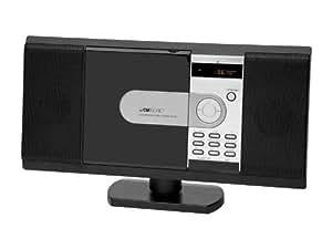 Clatronic MC 1036 - Minicadena vertical (reproductor de CD y DVD, radio FM, ranura para tarjetas SD y MMC, 100 W, USB)