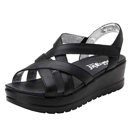 Alegria Myka Womens Sandal Black Nappa 10 M ()