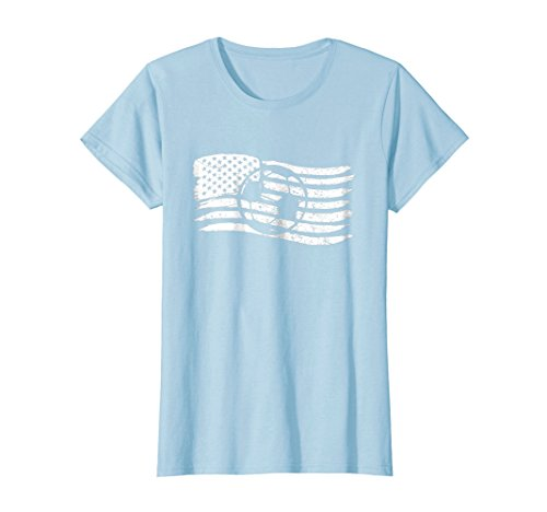 Womens American Flag T-Shirt For Soccer Player Patriotic Small Baby ()