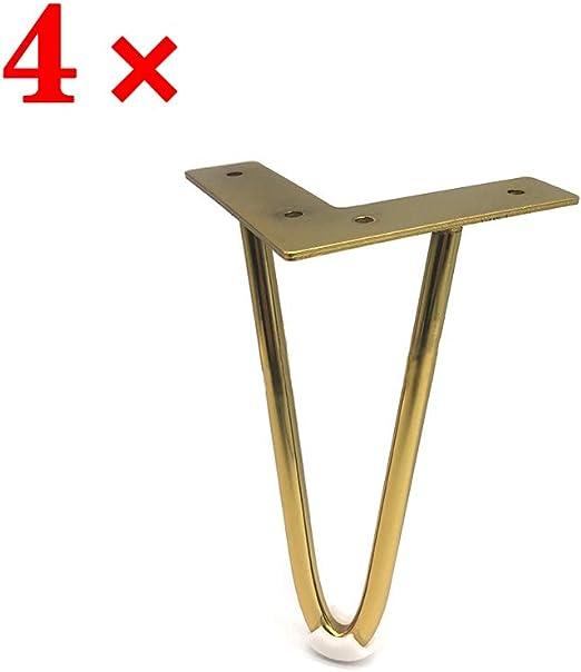 1 × Pata De Soporte De Muebles De Titanio Dorado Patas De Mesa De ...
