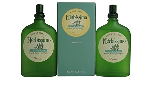 Amazon.com : Herbissimo Te Verde By Dana For Men. Cologne Spray Pack Of 2 X 3.4 Oz. : Beauty