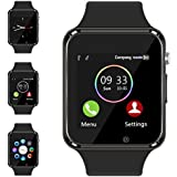Smart Watch - Aeifond Touch Screen Sport Smart Wrist Watch Bluetooth Smartwatch Fitness Tracker Camera Pedometer SIM TF Card Slot Compatible Samsung Android iPhone iOS Women Kids Men (Black)