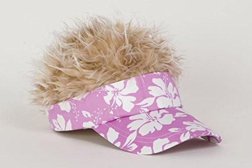 - Flair Hair Blonde Hair Visor, Lavender Floral