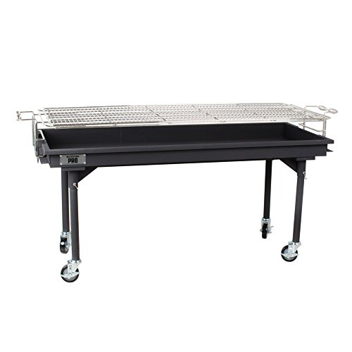 Backyard Pro CHAR60 60'' Heavy-Duty Steel Charcoal Grill with Removable Legs and Cover by Backyard