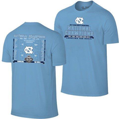 North Carolina Tar Heels 2017 College Basketball Champions Bracket T-Shirt (M)