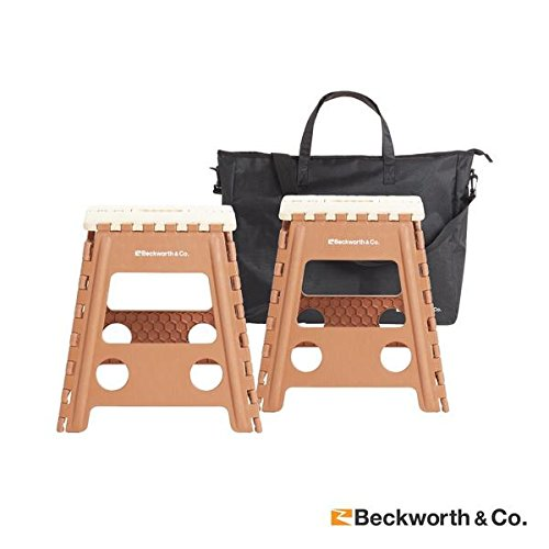 Beckworth & Co. SmartFlip Multipurpose Camping and Step Stools with Carrying Case - 2 Pack