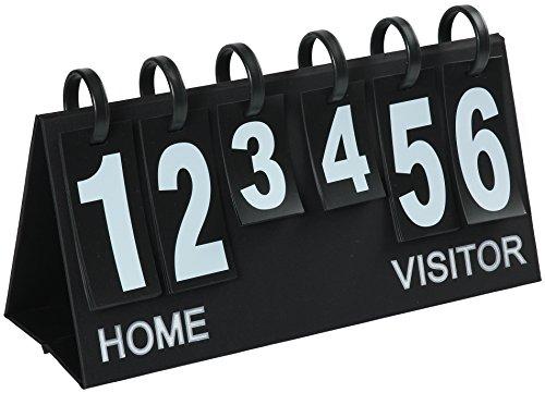 Upstreet Portable Scoreboard Flipper - Score Keeper Flips up to 99' (Black, White)
