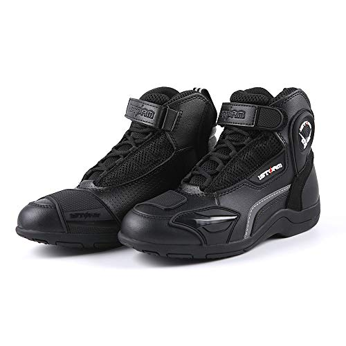 1Storm Men's Motorcycle Boots Rider Racing Black Hiking Trekking Outdoor Boots US 11
