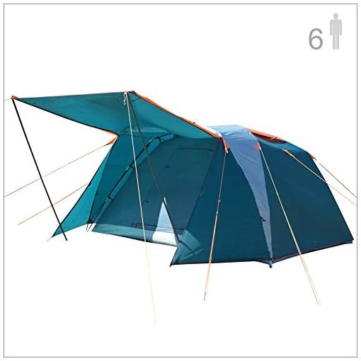 NTK-Omaha-GT-6-Person-10×10-Foot-Outdoor-Dome-Family-Camping-Tent-100-Waterproof-2500mm-Easy-Assembly-Durable-Fabric-Rainfly-Micro-Mosquito-Mesh-for-Extra-Ventilation