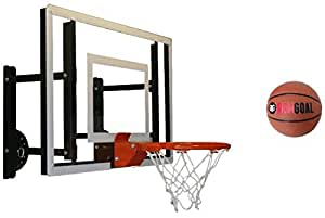 RAMgoal Durable Adjustable Indoor Mini Basketball Hoop and Ball