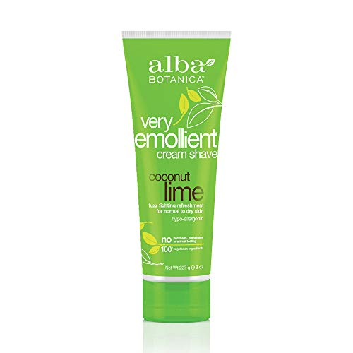 Alba Botanica Very Emollient Coconut Lime Shave Cream, 8 oz.