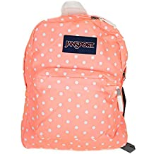 JanSport Superbreak Back Pack Coral Peaches/White Dots One Size
