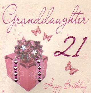 Image Unavailable Not Available For Color Granddaughter 21st Birthday Handmade Card