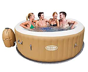Bestway Inflatable Spa Hot Tub Lay Z Outdoor Pool Portable Jacuzzi 4-6 Adult 120 Jets