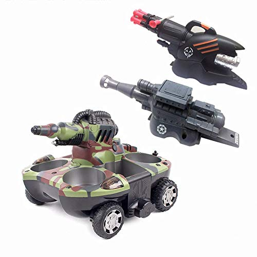 Mogicry Amphibious Remote Control Car Electric Remote Control Battle Tank Car Armored Fighting Vehicle 2.4G High Speed Remote Control Car Power Buggy Racing Boy Girls Gift for Kids 3+