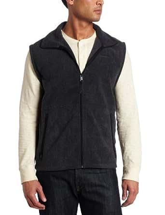 Columbia Men's Cathedral Peak Fleece Vest, Charcoal Heather, Small