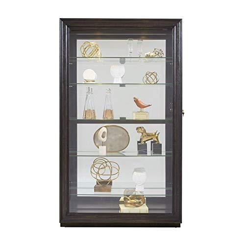 Pulaski P021553 Rockford Mirrored Two Way Sliding Door Curio Cabinet 45.9'' x 14.8'' x 80.0'' by Pulaski (Image #4)