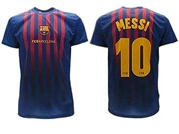 fab6ee94fb9bc Camiseta Jersey Futbol Barcelona Lionel Messi 10 Replica Autorizado  2018-2019 Niños (2