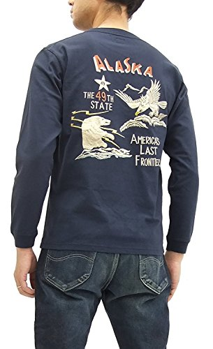 Tailor Toyo Long Sleeve T-shirt TT67789 Alaska Men's Souvenir Jacket Style Tee Navy (Small) by Tailor Toyo