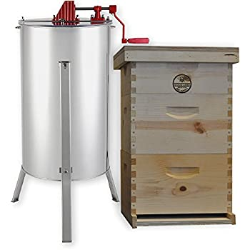 1 Unassembled DEEP 8 Frame Honey Super Langstroth Beehive Box COMMERCIAL Pine