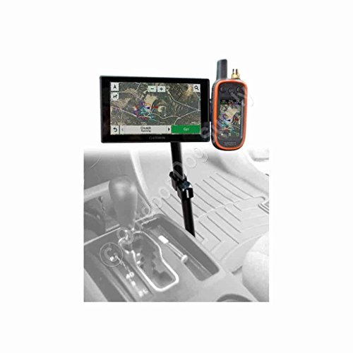 Premium Aluminum Arm Double Mount for Garmin Alpha, Astro & DriveTrack 70 (4 Hole Drill Mount) by [brand-name]