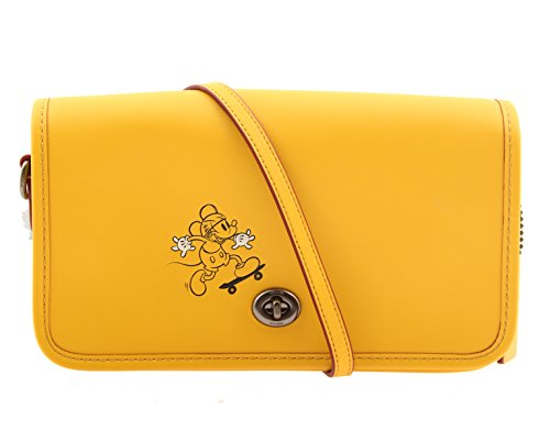 COACH MICKEY Penny Crossbody in Glove Calf Leather with Mickey Banana by Coach