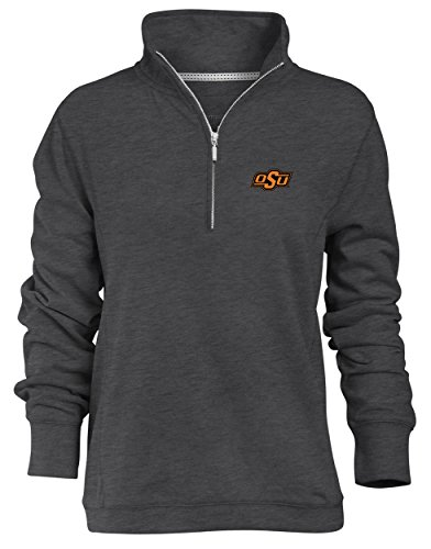 Oklahoma Pullover (Camp David NCAA Oklahoma State Cowboys Relaxed Quarter Zip Pullover, Charcoal, Large)