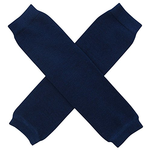 Super Solids - Solid Color Leg Warmers - One Size - Baby, Toddler, Boy, Girl (Navy Blue)