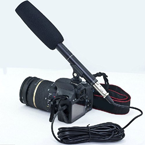 hongfei 14.37'' Camera Camcorder Shotgun Microphone Condenser for Canon Interview by hongfei