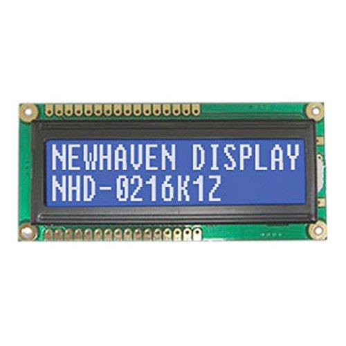 Newhaven Displa NHD-0216K1Z-NSW-BBW-L Display LCD 16X2 Parallel 5V Backlit Stn-Backlitue Trans missive, White 16 Character Backlit Lcd Display