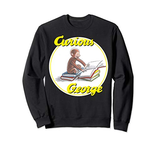 Curious George Reading Poster  Sweatshirt
