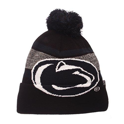 (Zephyr NCAA Penn State Nittany Lions Mammoth Beanie, Adjustable, Black/Team Color)