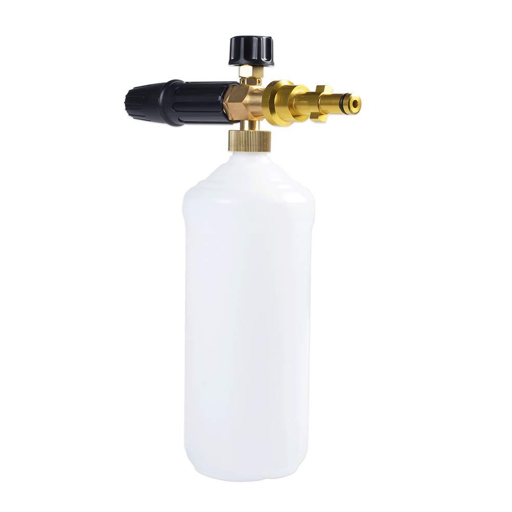 Cannone in schiuma professionale regolabile in ottone Option L per la maggior parte delle idropulitrici elettriche ad alta pressione 1