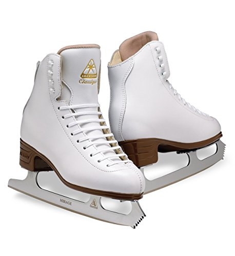 Jackson Ultima Classique JS1990 White Womens Ice Skates, Width C, Size 6.5 by Jackson Ultima