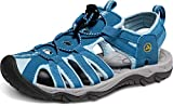 ATIKA Women's Sports Sandals Trail Outdoor Water Shoes 3Layer Toecap, Liv(w200) - Blue