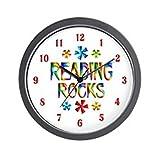 CafePress – Reading Rocks Wall Clock – Unique Decorative 10″ Wall Clock