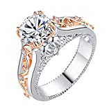 Coco-Z New Women Simple Rose Gold-Plated Color Separation Ring Jewelry, Overseas Import Products Specialty Store