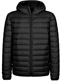 Wantdo Men's Ultra Light Hooded Down Jacket Parka