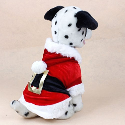 New Santa Dog Costume Christmas Pet Clothes Winter Hoodie Coat Clothes for Dog Pet Clothing Chihuahua Yorkshire Poodle (L)