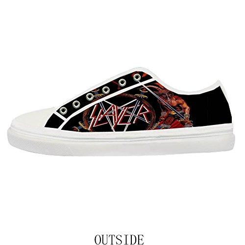 Canvas Band zipper Rock Canvas for Shoes Shoes Fashion Women slayer gw5Inqxwd