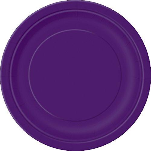 Deep Dessert (Dark Purple Paper Cake Plates, 25ct)