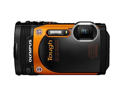Olympus TG-860 Digitalkamera (16 Megapixel, BSI CMOS-Sensor, 7,6 cm (3 Zoll) TFT LCD-Display, 21 mm Weitwinkelobjektiv, WiFi, Full HD, wasserdicht bis 15 m) orange