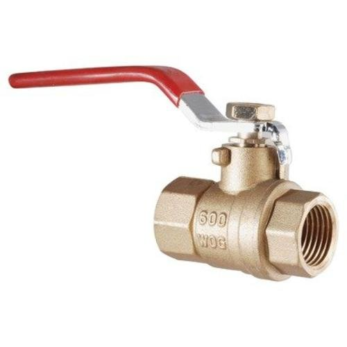 LDR 022 2236 1-1/4 Inch IPS Full Port FIP Ball Valve Lead Free Brass (Fip Brass)