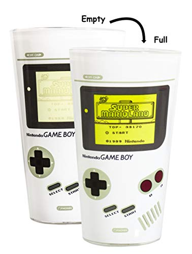 Paladone Color Changing Gameboy Glass - Classic Game Boy Design - Pint