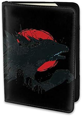 Godzilla Logo ゴジラ モンスター ロゴ パスポートケース メンズ レディース パスポートカバー パスポートバッグ 携帯便利 シンプル ポーチ 5.5インチ PUレザー スキミング防止 安全な海外旅行用 小型 軽便