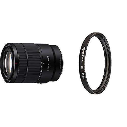 Sony 18-135mm F3.5-5.6 OSS APS-C E-mount Zoom Lens with UV Protection Lens Filter